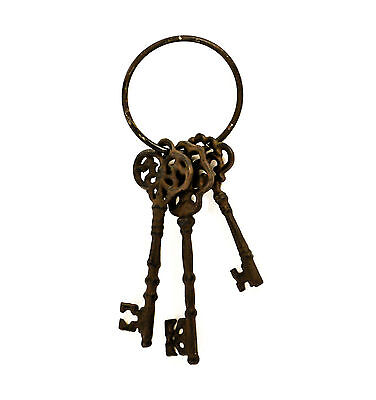Key Ring Design Cast Iron Garden Home Hanging Wall Art Decoration