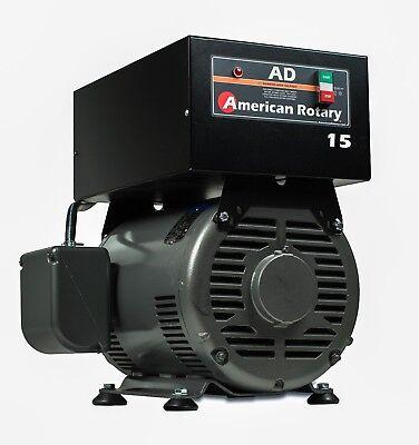 Heavy Duty Rotary Phase Converter Ad15f 15 Hp Floor Unit Digital Controls Cnc
