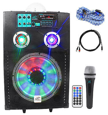 Nyc Acoustics Active 12  Karaoke Machine System 4 Ipad Iphone Android Laptop Tv