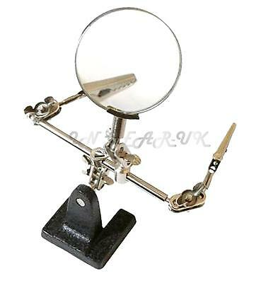 Helping hands third Hand free Magnifying glass magnifier hobby bench crock clips