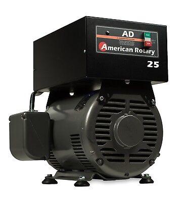 Rotary Phase Converter Ad25f - 25 Hp Floor Unit Digital Controls Heavy Duty Cnc