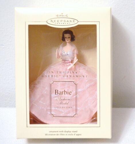Hallmark Barbie Keepsake Ornament Christmas In The Pink Fashion Model 2002
