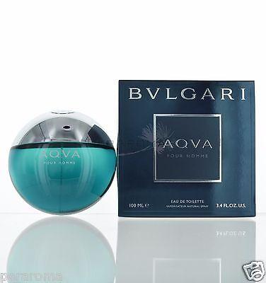 Aqva Pour Homme by Bvlgari Eau De Toilette 3.4 OZ for Men NEW