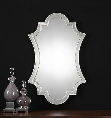 Curved Shaped Venetian Wall Mirror | Glass Frame Vanity