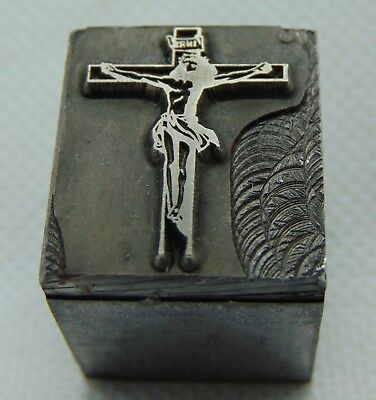 Used, Vintage Printing Letterpress Printers Block Jesus Nailed to Cross   for sale  Hickory