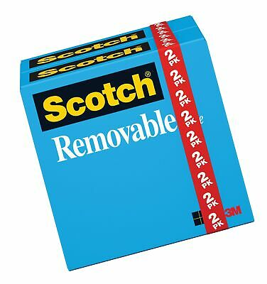 Scotch Removable Tape Standard Width Non-damaging Invisible Engineered Fo...