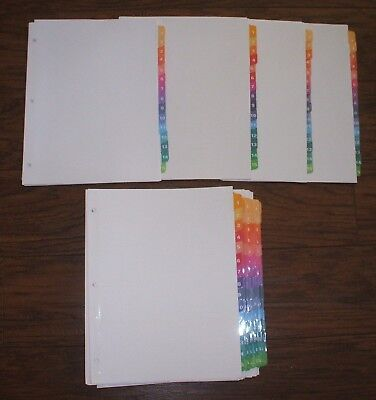 Lot 12 Sets Avery 11197 15-tab Ready Index Multicolor Dividers No Contents Page