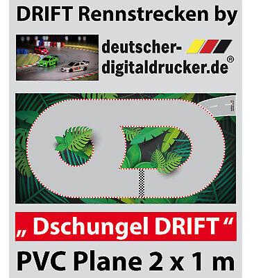 Dschungel DRIFT Rennstrecke - RC Cars -  PVC Plane 4 farbig - 2 x 1 m