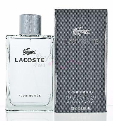 Lacoste Pour Homme by Lacoste for Men 3.3 oz Eau de Toilette Spray New In BOX