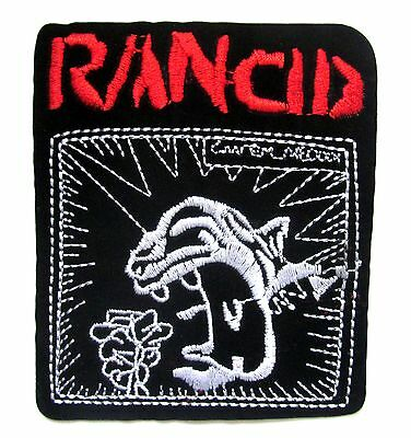 Rancid Iron On Patch- Music Rock Punk Metal Bands Embroidered Badge Crafts Sew