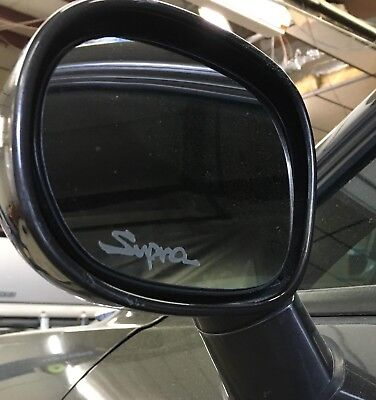 SUPRA Toyota Etched / Frosted Look Mirror Glass Decal Stickers ~ Set Of 2