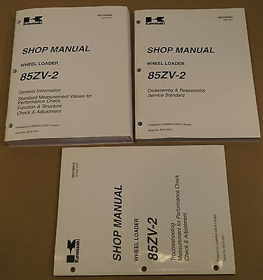 Kawasaki 85zv-2 Wheel Loader Factory Service Shop Manual 3-volume Set 35018