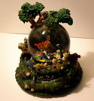 """DISNEY Bambi """"Little April Showers"""" Musical Snow Globe with Motion!"""