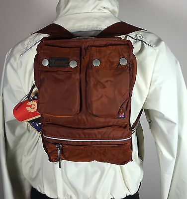Authentic Belstaff Lady Backpack Baby Bag Rust Belflex NWT