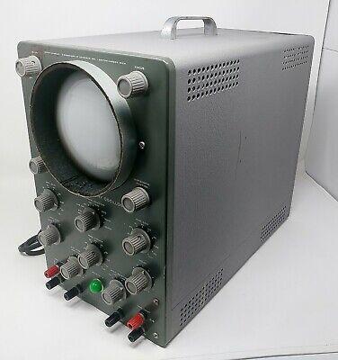 Vintage 1960 Benton Harbor Mi Working Heathkit Laboratory Oscilloscope O-12
