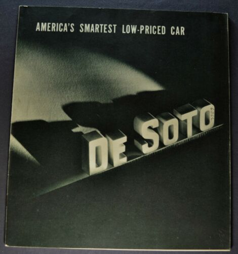 1938 DeSoto Catalog Sales Brochure Excellent Original 38