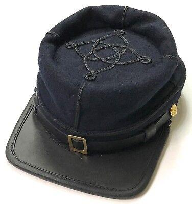CIVIL WAR US UNION INFANTRY LIEUTENANT OFFICER WOOL KEPI FORAGE CAP HAT-2XLARGE Civil War Union Kepi