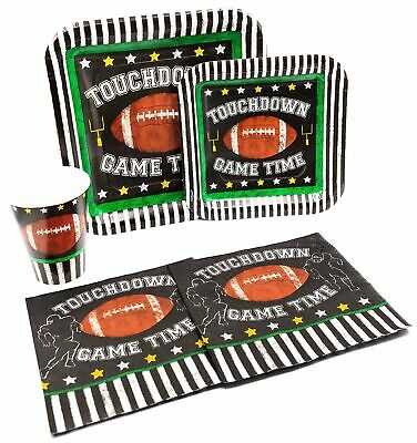 Football Themed Disposable Paper Plates, Napkins and Cups Set for 15 People](Themes For Football)