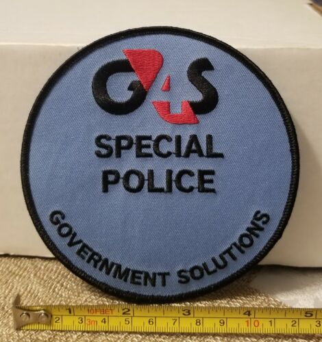 G4S Government Solutions Security Special Police Patch.  Collectors Only Please