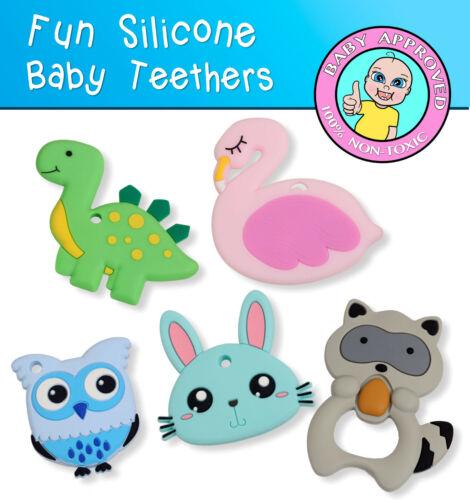 Baby Teethers Food Grade Teething Silicone Baby Safe Pendant Sensory Teethers