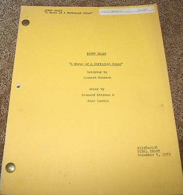 DIRTY SALLY TV SHOW SCRIPT A HORSE OF A DIFFERENT COLOR