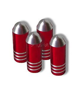 RED  Bullet Dust Caps car bike bmx valve tyre bullit