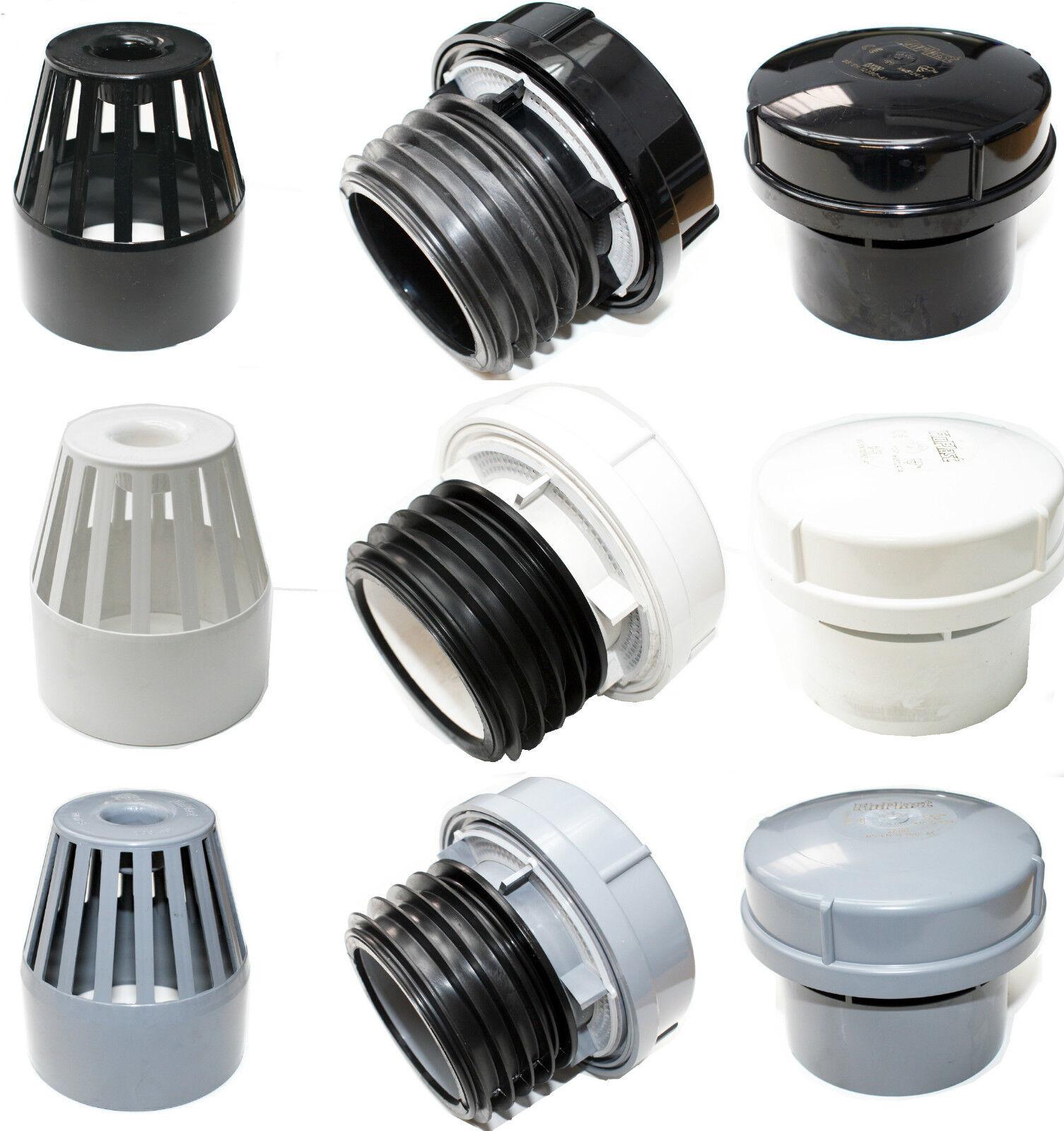 Soil pipe external or internal air admittance valve black for 80mm soil vent pipe