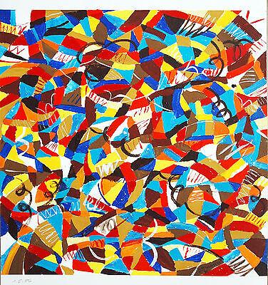 Helmut DITTMANN 1931-2000 Farbkreis Rot-Gelb-Blau Braun Tempera 1986, 70 x 70 cm (Gelber Kreis Papier)