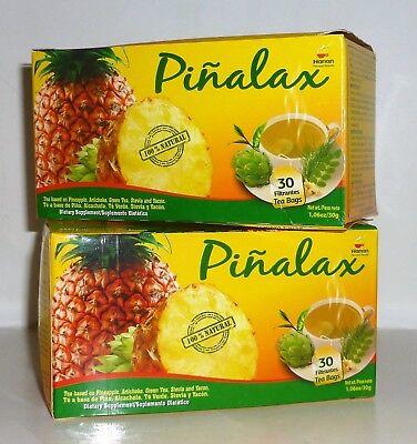 Te De Pina Pinalax  Quemador De Grasas   Pineapple Tea Bags  2 Boxes X 60 Bags