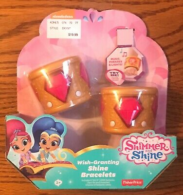 FISHER PRICE NICKELODEON SHIMMER AND SHINE PINK WISH-GRANTING SHIMMER BRACELETS - Max Fisher Halloween