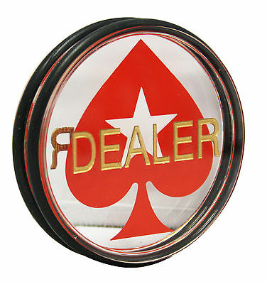 3 Inches Acrylic Dealer Puck Casino Quality Dealer Button Large