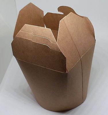 25 Braune Bio Asiaboxen 650 ml ( Nudelboxen PLA Party asiatisch Behälter ) Neu