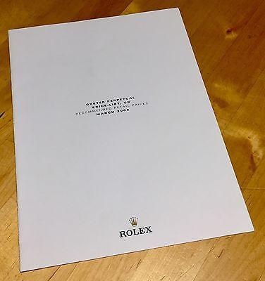 ROLEX Price List 2008 UK 14060 116400 116520 116688 116710 16570 16610 16600 OEM