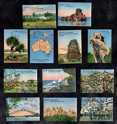 Australia Lindt Stamp Card Set 1930's Melbourne Map Koala Sidney Bridge (Fit Melbourne Map)