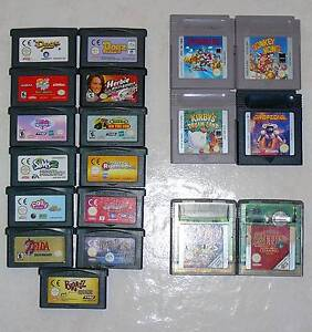 Nintendo Game Boy, Game Boy Color and Game Boy Advance Games Lake Macquarie Area Preview