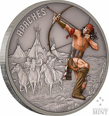 2017 Niue -  Warriors Of History - Apaches 1 oz Coin