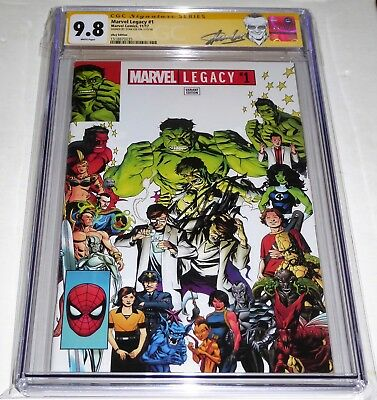 Marvel Legacy #1 CGC SS eBay Variant Signature Autograph STAN LEE Wolverine Back