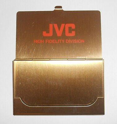 Vintage Jvc High Fidelity Division Solid Brass Business Card Holder W Softcase