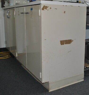 2x3 Laboratory Metal Cabinet With White Top Bench