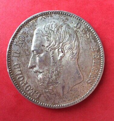 Belgique - Léopold II - Superbe monnaie de 5 Francs 1875