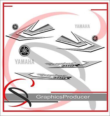 Yamaha Raptor 2006 White Replica Decals Graphics Kit Stickers OemReplica