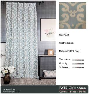 Curtains (Made To Order)Super Jacquard Curtain (P024)