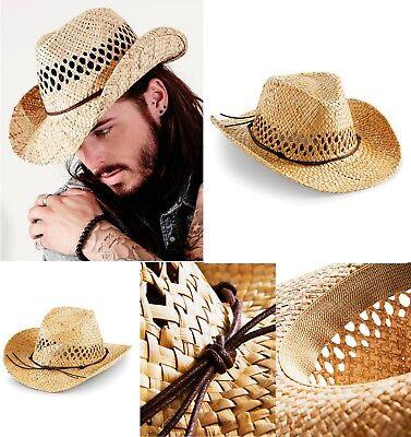 Stroh-cowboy-hut (Stroh Cowboy Hut Handgemacht Straw Cowboy Hat Sommer Sonne Schutz Party Freizeit)