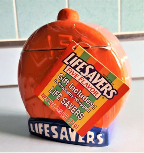 LifeSavers ORANGE Ceramic Covered Candy Dish - New With Tag & Wrapped