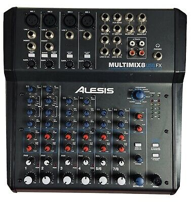 Alesis MultiMix 8 USB FX 8-Channel Mixer with Effects USB Audio Interface used