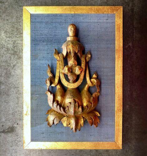 Antique Burmese Temple Carving - Custom Mount