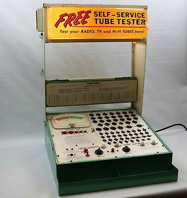 Vintage Mercury Electronics Self Service Vacuum Tube Tester Model 204 Tested