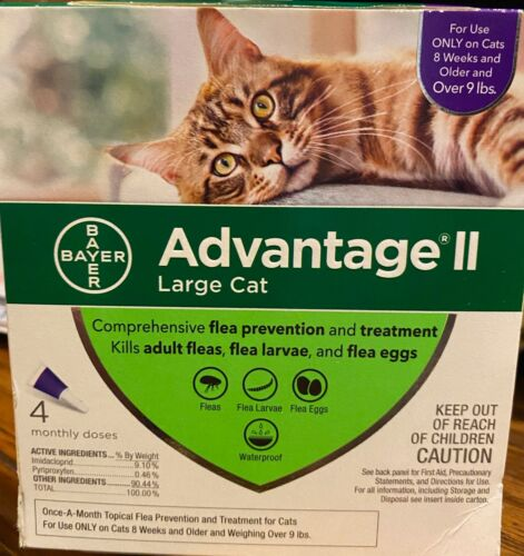 Advantage ll for Large CATS over 9 lbs. 4 Dose PACK