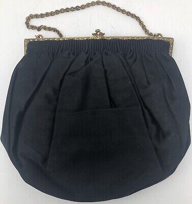 1940s Handbags and Purses History Vintage 1940s Black Pichel Purse Handbag Bag $39.95 AT vintagedancer.com