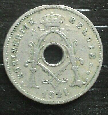 monnaie munt Belgique Belgie Albert I  5 cent 1921 légende flamande